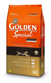 Ração Golden Special Cães Adultos Frango E Carne 20kg