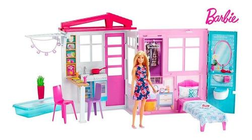 Imagen 1 de 1 de Barbie Nueva Casa Glam Con Muñeca