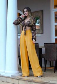 Lindo Conjunto Pantalona E Cropped Tombei