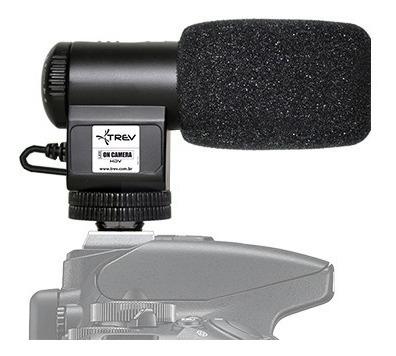 Microfone Direcional Shotgun Compact P/ Canon Eos Rebel Sl2