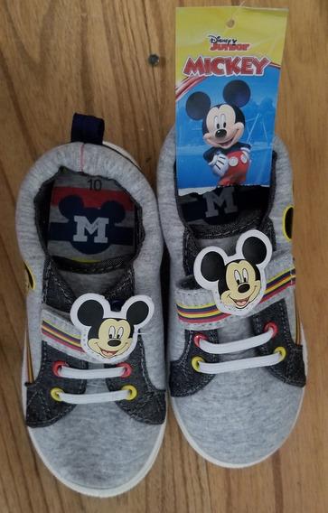 Zapatillas Mickey Para Niño Talle 10 Nuevas!/ 19 Cm De Largo