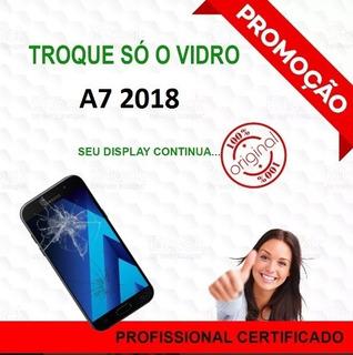 Troca Do Vidro A7 2018 Conserto Celular Tela Quebrada A750
