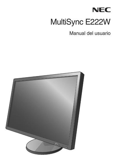 Monitor Nec E222w 22 Pulgadas 1680x1050 Vga Dvi