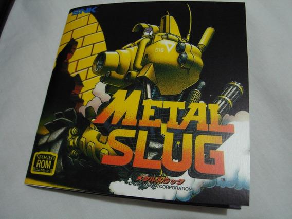 Manual Metal Slug Japonês Para Neo Geo Aes