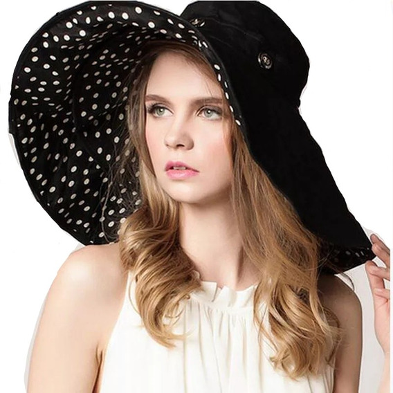 Sombrero Con Protección Solar Grande Doble Reversible Playa