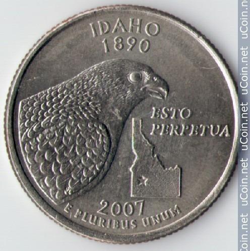Moeda Idaho 1890 Letra P 2007