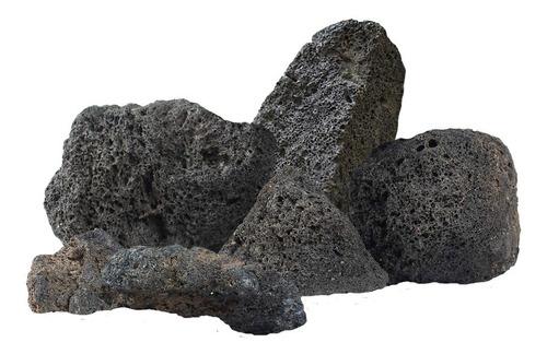 Piedras Volcanicas Sauna Parrilla Hogar Resiste Fuego 16 Kg