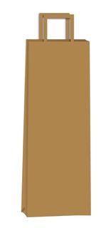 Bolsas Para Botella De Vino Madera, Kraft 14x08x40 X25 Uni
