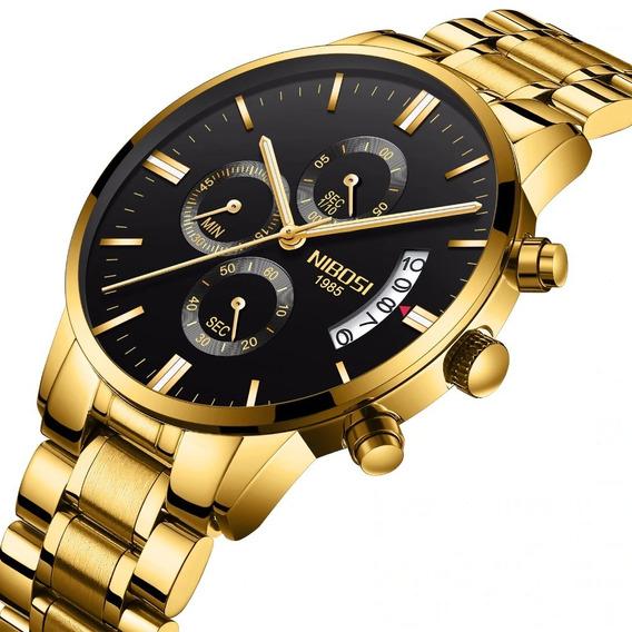 Relógio Masculino Nibosi Luxo Pronta Entrega Original