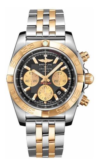 Relogio Breitling Chronomat 44 Ouro E Aço. Cb0110