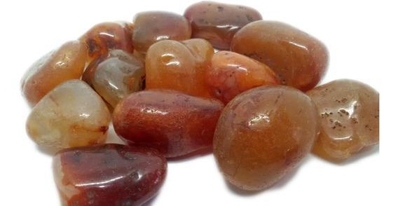 100g De Pedra Rolada Cornalina Natural