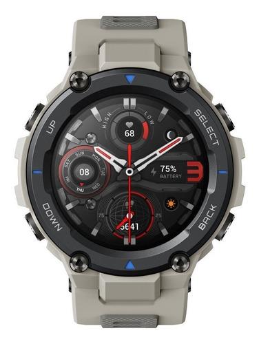 Imagen 1 de 5 de Smartwatch Amazfit Sport T-rex Pro 1.3  Caja 47.7mm De  Policarbonato  Desert Grey Malla  Desert Grey De  Silicona A2013
