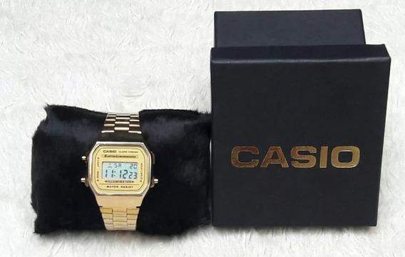 Relogio Dourado Unissex Vintage Casio Pronta Entrega