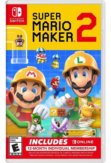 Switch Mario Maker 2 Suscripcion + New Super Mario + Yoshi C