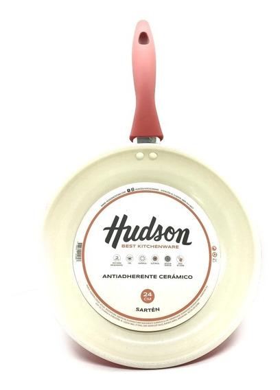Sartén De Cerámica Hudson N°26 Color Pastel Mango Siliconado