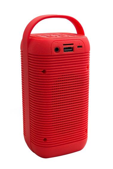 Caixa Som Bluetooth 5w Plastico Vermelho