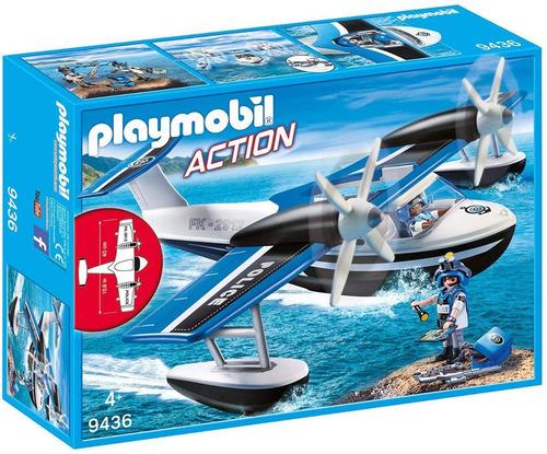 Imagen 1 de 5 de Playmobil 9436 Action Hidroavión De Policía Original