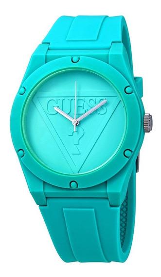Relógio Guess Retro Pop Silicone Tiffany Azul Turquesa