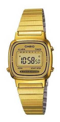 Relógio Casio Feminino Dourado