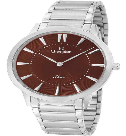 Relógio Champion Masculino Slim Prateado Ca21740v
