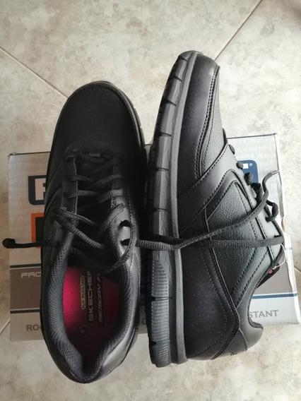 Zapato Skechers Work Negro Anti Resbalante
