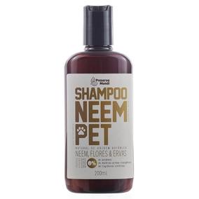 Shampoo Repelente Natural Neem Ervas & Flores Para Pets 180g