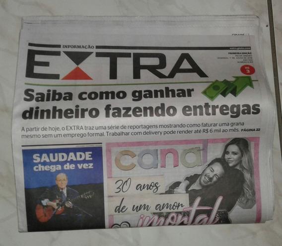 Jornal Extra Anunciando A Volta De Sandy E Junior