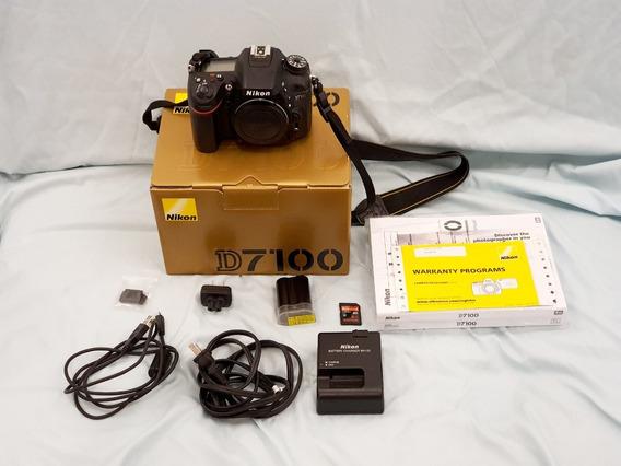 Nikon D7100 Completa Na Caixa Com Acessórios