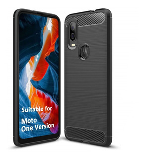 Funda Motorola One Vision Action Zoom + Vidrio Full 10d