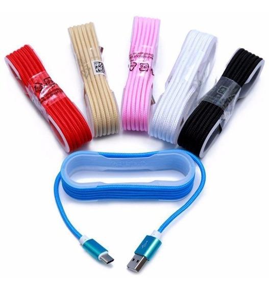 Cable Micro Usb 1.5 Metros Agujeta Puntas Metalicas!