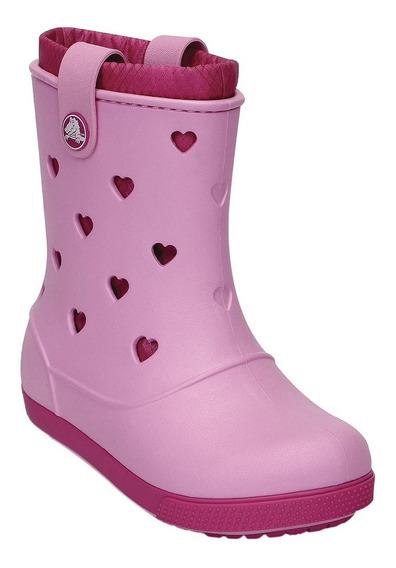 Galocha Infantil Original Crocs Crocband Hearts Boot