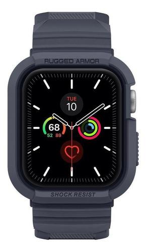 Imagem 1 de 9 de Case Spigen Apple Watch 4 5 6 Se 44mm Rugged Armor Pro Cinza