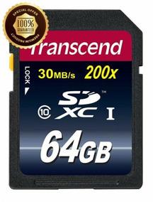Cartão De Memória Sdhc 64gb Ultimate Class10 Transcend