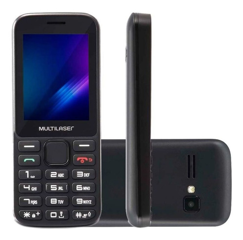 Celular Multilaser Zapp 2,4 Polegadas 3g 512mb Preto P9098