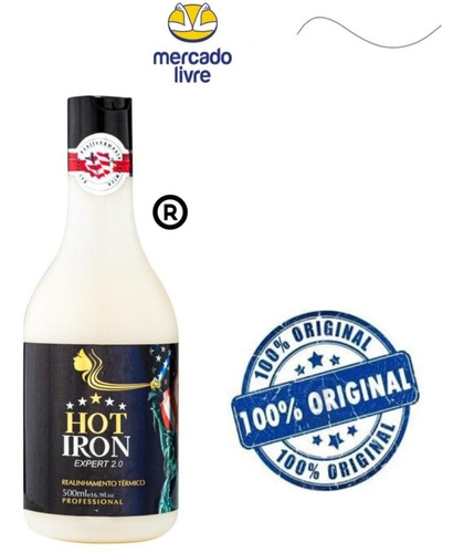 Imagem 1 de 7 de Realinhamento Térmico Hot Iron 500ml Com Frete Grátis