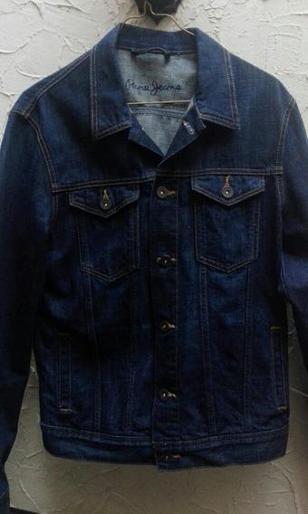 Chamarra Pepe Jeans Azul Seminueva Excelente Estado Talla M