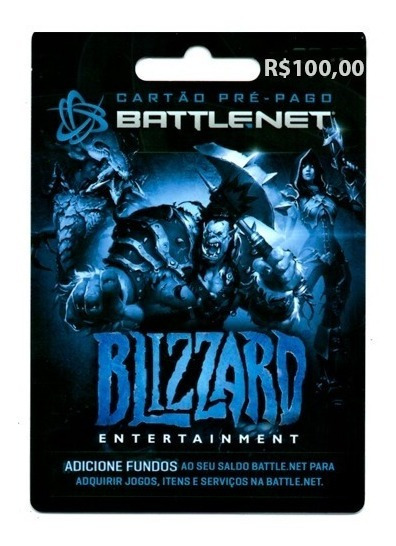 Cartão Blizzard Battle.net R$100 Wow Overwatch Hearthstone