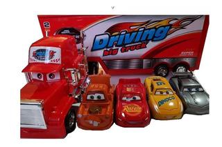 Cars Camion Mula Mack 50cm +4 Carros Rayo Macqueen Envio Ajd