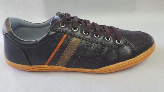 Calcado Sapato Sapatênis Casual Couro Macio Confortável