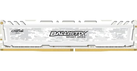 Memoria Ram Ddr4 Crucial Ballistix 16gb 2666mhz Gamer White