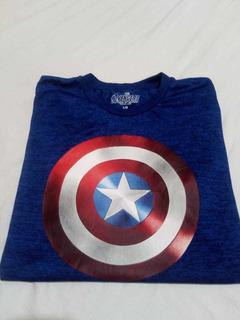 Camiseta Capitán América Talle L