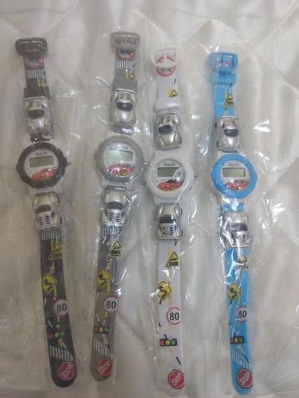 Mini Relógio Infantil P/menino/resistente Agua/novo/kit C/4