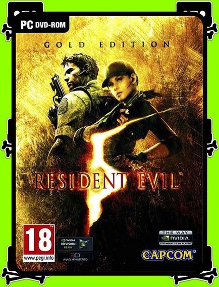 Resident Evil 5 Gold Edition Pc - 100% Original (steam Key)