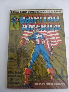 Hq Capitão América Comemorativa 50 Anos História John Byrne
