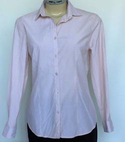 19a60a362c Blusa Camisa Social Feminina Open Up Cor  Salmão Tam.m