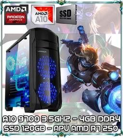 Cpu Pc Gamer A10 9700 Quad Core 3.5ghz 4gb Ssd 120gb Ga155