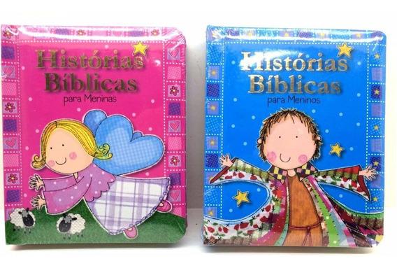 Livro Historias Bíblicas Infantil Menino, Menina E Bebê.