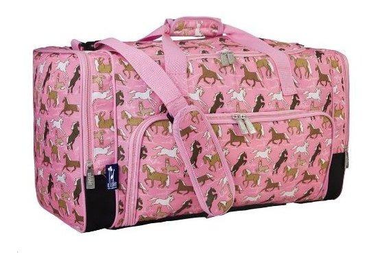 Wildkin Weekender Bolsa Caballos En Rosado Talla Unica Cabal