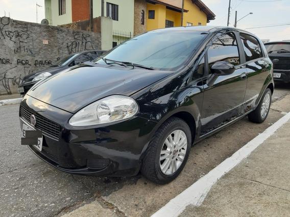 Punto Attractive 1.4 - Preto - 2012 - C/ Roda E Couro