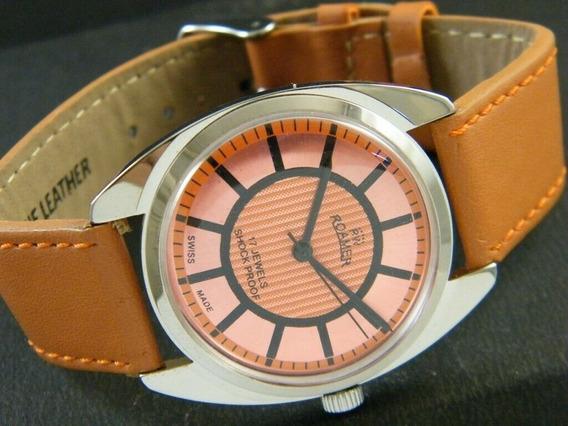 Relógio Suíço Roamer A Corda 17 Jóias Vintage Revisado